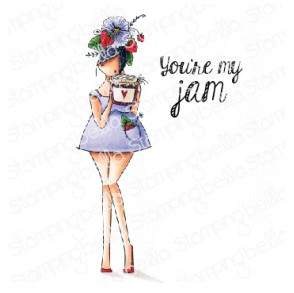 Curvy girl LOVES JAM rubber stamp